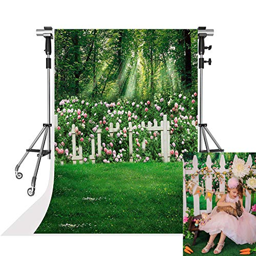 Kate 5x7ft Spring Photography Backdrops Family Garden Pink