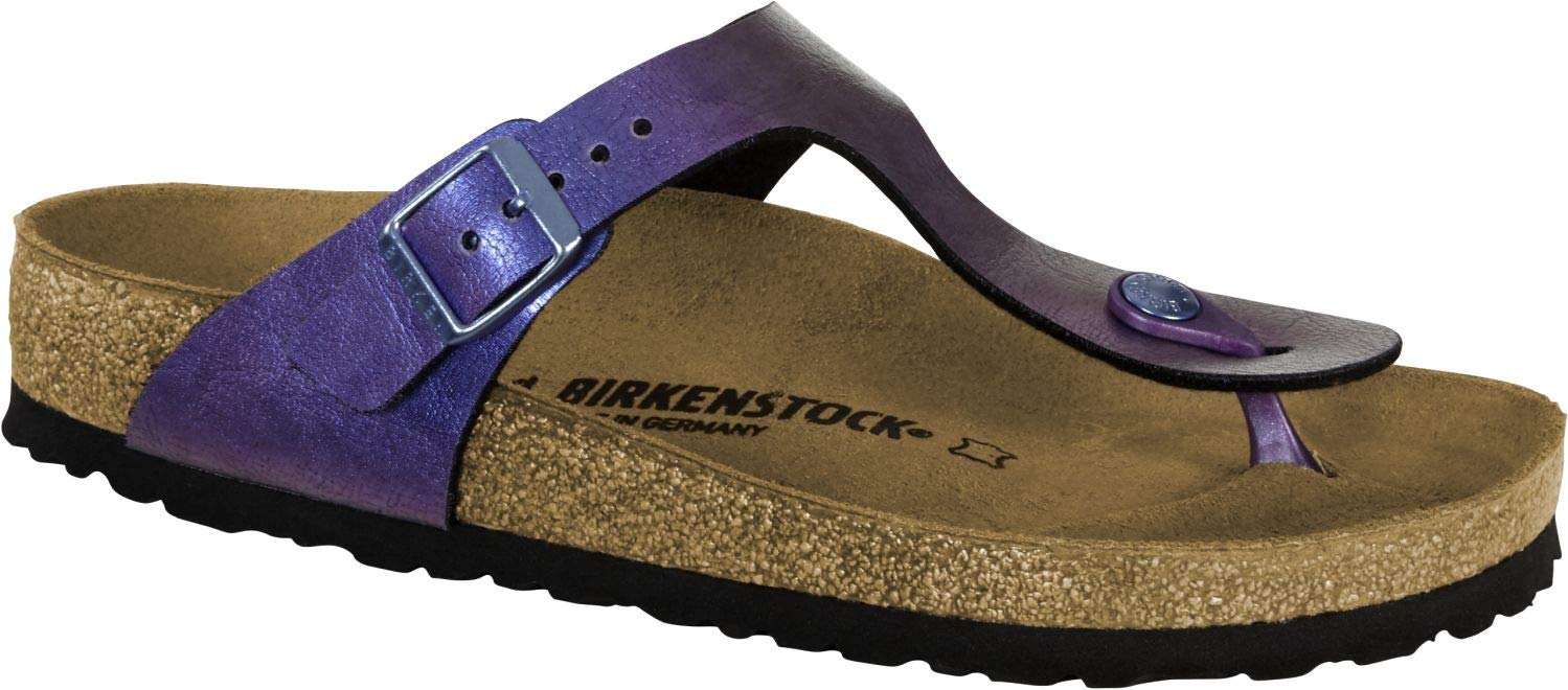 af688f633187 Galleon - Birkenstock Unisex Gizeh Birko-Flor Graceful GEMM Violet Sandals  7 W   5 M US