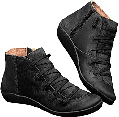 Women's Arch Support Boots Casual Lace