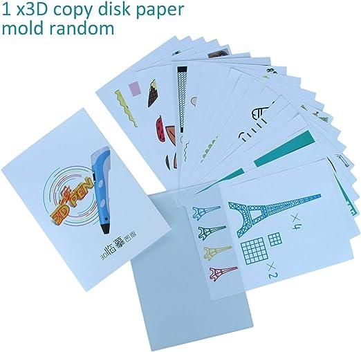 Tamaño A4 Niños Dibujo Molde de papel de placa de copia 3D para ...
