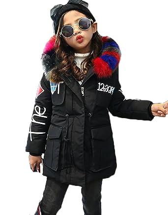 c09ec7aa6 MILEEO Girls Jacket Kids Fur Warm Thick Coat Jackets Age 4-12 Years ...