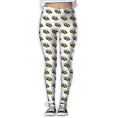 NSYGCK Bee Yoga Pants for Women Unique Slim-Fit Yoga Leggings