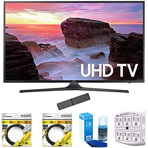 Samsung-65-4K-Ultra-HD-Smart-LED-TV-2017-Model-UN65MU6300FXZA-with-2x-6ft-High-Speed-HDMI-Cable-Screen-Cleaner-for-LED-TVs-Stanley-6-Outlet-Surge-Adapter-with-Night-Light