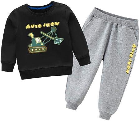 Juego de suéter de Felpa para niños y niñas, diseño de Zorro Plateado, de Dos Piezas