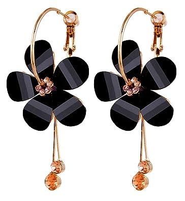 aafe7dc1d YouBella Stylish Party Wear Jewellery Gold Plated Drop Earrings for Women  (Black)(YBEAR_31192