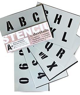 Plantillas del Alfabeto – 4 cm de altura – Numeros & Numeros 0-9,