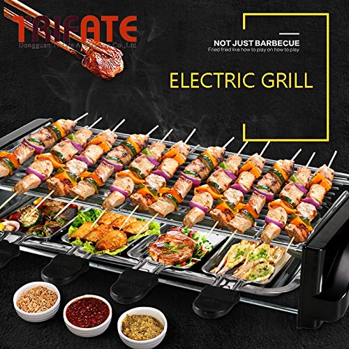 High-Power Double-Smoking Smokeless Electric Grill BBQ Grill