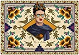 Frida Kahlo Design Desk Mat Blotter, Desk Pad 14'''' x 20'''' , Laptop Mat for office and home, Ultra Thin Waterproof Mouse Mat