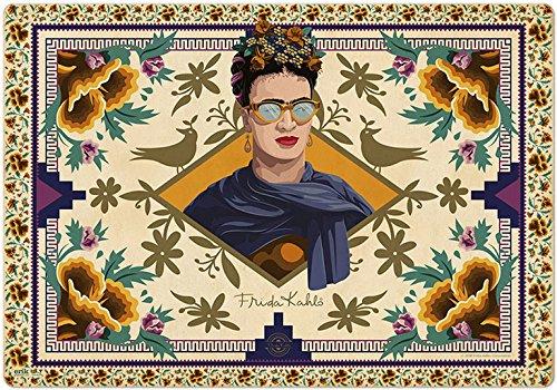 Frida Kahlo Design Desk Mat Blotter, Desk Pad 14'''' x 20'''' , Laptop Mat for office and home, Ultra Thin Waterproof Mouse Mat by Grupo Erik
