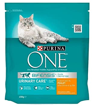 PURINA ONE Croquettes Chat Urinary Care Poulet 450g (Lot de