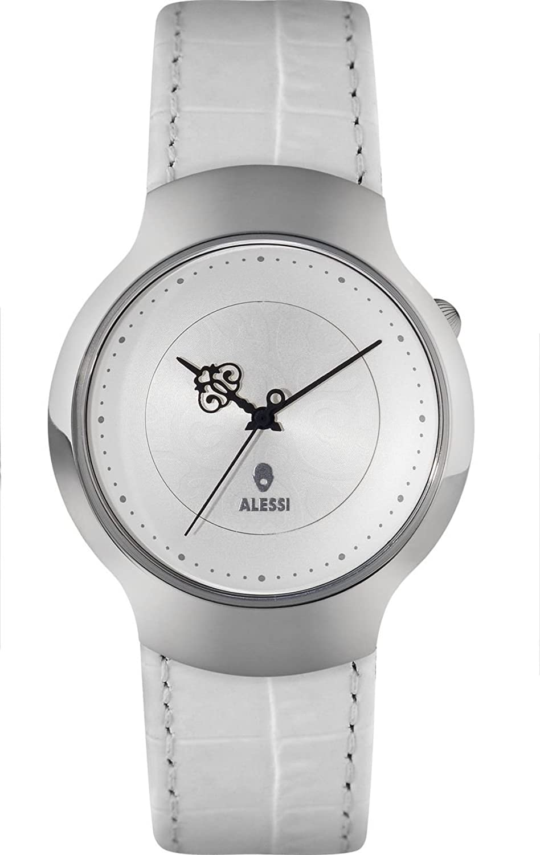 Alessi Unisex-Armbanduhr Analog Quarz Weiß AL27021