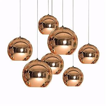 Cwill Moderne Kunst Globus Pendelleuchte Goldene Kupfer Spiegelglas
