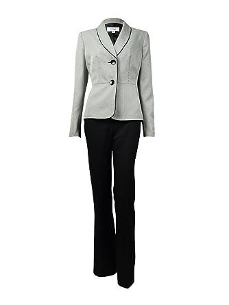 d24ddcc17c7 Amazon.com  Le Suit Womens Country Club 2PC Houndstooth Pant Suit ...