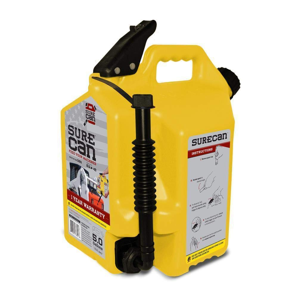 SureCan - Diesel Gas Can with Rotating Spout - 5.0 Gallons by Surecan