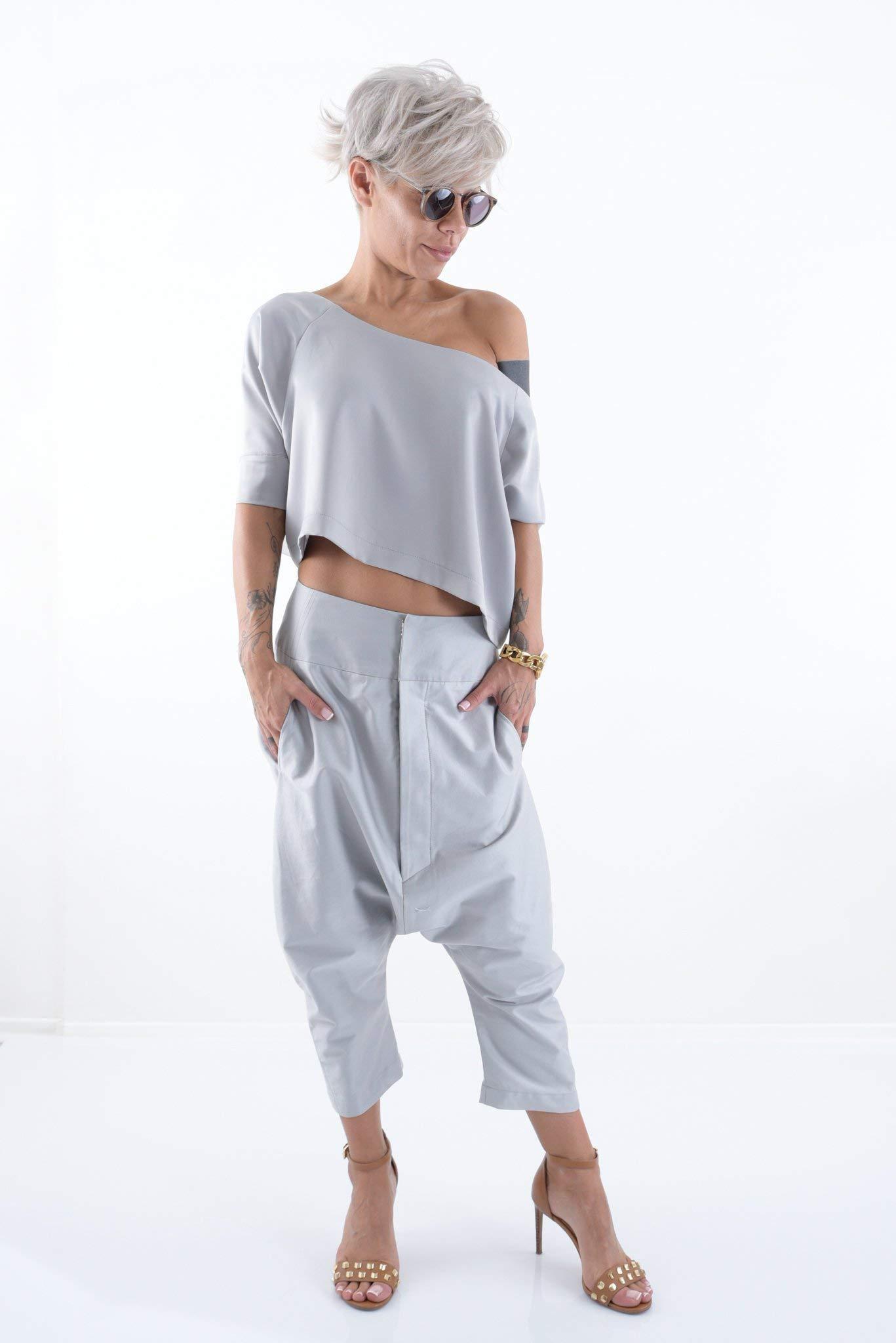 LOCKERROOM Women Wide Leg Loose Harem Boho Trendy Plus Size Pants by Clothes By Locker Room