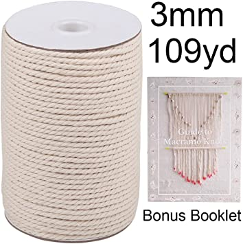 Gardening Crafts Clothesline Soft Cotton Cord for Plant Hangers XKDOUS Colored Macrame Cord Light Gray 4mm x 150Yards Grey Cotton Macrame Rope D/écor /& Decoration