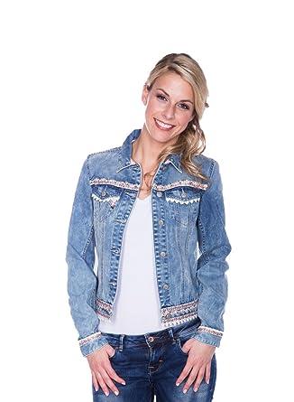 Michaelax-Fashion-Trade Krüger - Damen Trachtenjacke in Blau Rose, Denim  Dream f7547cad6c