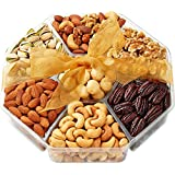 Holiday Nuts Gift Basket - Gourmet Food Gifts Prime Delivery - Mothers & Fathers Day Fruit Nut Gift Box, Assortment Tray - Birthday, Sympathy, Get Well Men, Woman & Families - Hula Delights