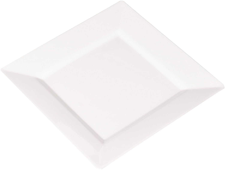 EMI Yoshi Koyal Square Salad Plates, 8-Inch, White, Set of 120 EMI-SP8W