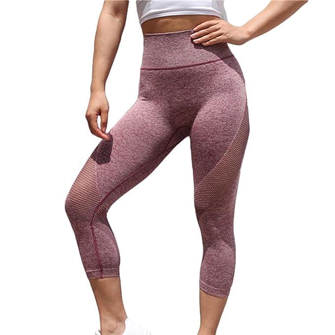 Mxssi Ropa de Yoga para Mujeres de Cintura Alta Hip Peach ...