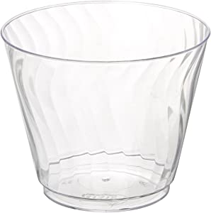 Chinet 782195849663 100 CT 9 OZ Cut Crystal Plastic Cold Cups