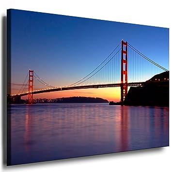 Kunstdruck San Francisco - Golden Gate Leinwandbild fertig auf ...