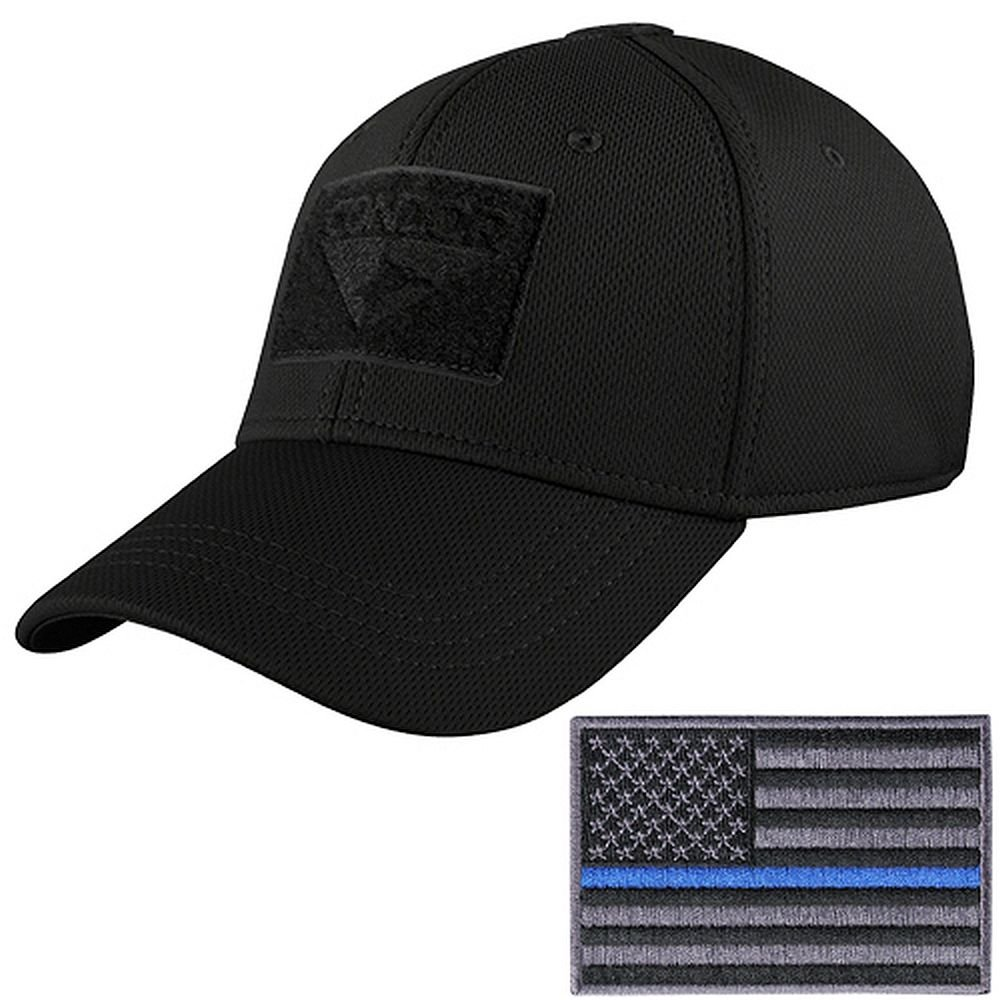 78c2e5641f319 hot rockstar flexfit hats yellow b1a50 ad7f9  coupon code for condor  tactical flex cap with thin blue line morale patch bundle at amazon