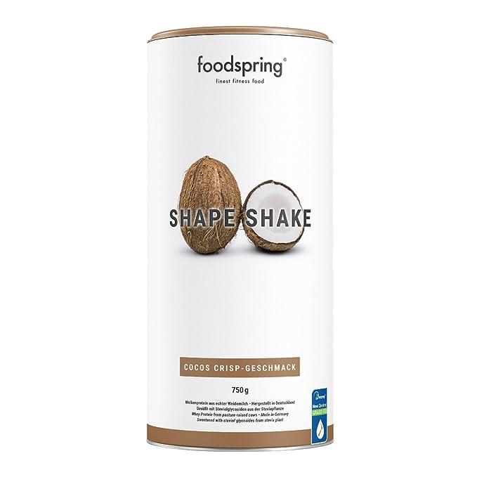 foodspring - Shape Shake - Sabor Coco - Logra todos tus objetivos de forma natural y deliciosa - 67% de proteína de suero de leche - 750 g: Amazon.es: Salud ...