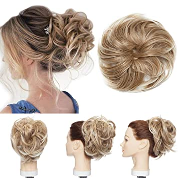 Amazon Com Messy Hair Bun Extensions Fluffy Tousled Scrunchie Synthetic Up Do Wavy Scrunchy Updo Chignons With Elastic Rubber Band Highlight Scrunchies Wrap On Instant Ponytail Hairpiece For Women 80g 27t613