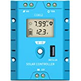 ZEALLIFE Solar Panels Charge Controller, 8A Battery Regulator for 12V Solar Battery Charger, Solar Battery Maintainer and 12 Volt Batteries Power Kit Safe Protection (LCD Style)