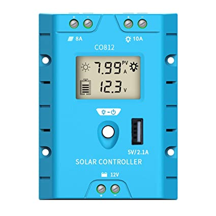 ZEALLIFE Solar Panels Charge Controller, 8A Battery Regulator for 12V Solar  Battery Charger, Solar Battery Maintainer and 12 Volt Batteries Power Kit
