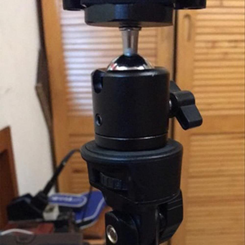 360/° Swivel Mini Ball Head 1//4 Screw DSLR Camera Tripod Mount Ballhead Stand