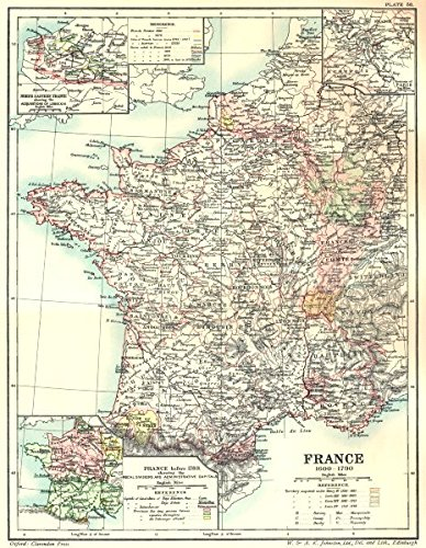 Map Of France In 1789.France 1600 1790 Maps N Eastern Acquisitions Louis 14 Paris