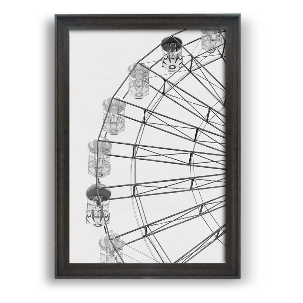 Framed Ferris Wheel ation Dark Coffee Brown Frame - Framed Prints ...