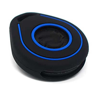 Silicone keycover HAA/B for Motorcycle Motorbike Bike Keycover Etui protective cover Remote Entry Fob Case (only Keyless Go) (black blue, HAB): Automotive