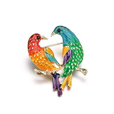 8c0d5d449 Image Unavailable. Image not available for. Color: MIXIA Enamel Birds  Brooch Lapel Pin Clip Ladies Animal Suit Brooch Broches Vintage Brooches  for Women