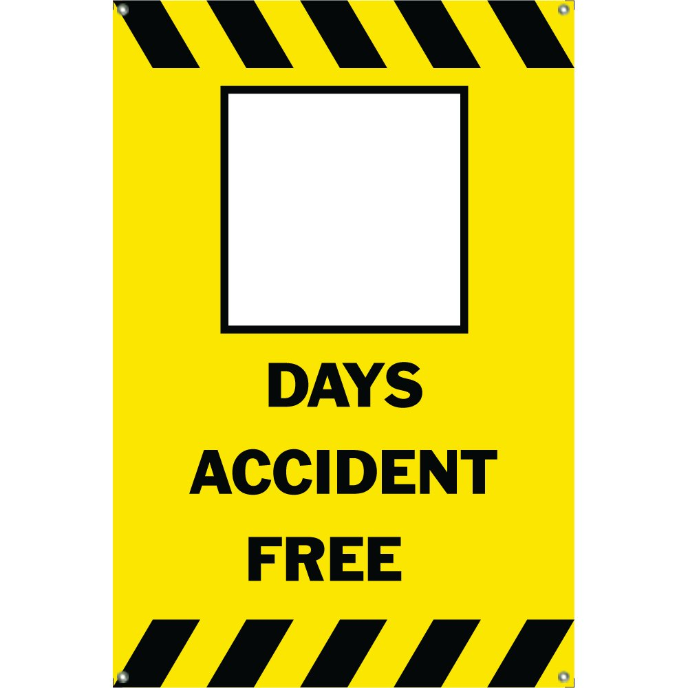 Amazon.com : BLANK DAYS ACCIDENT FREE Banner Sign 3ftX2ft Yellow w ...