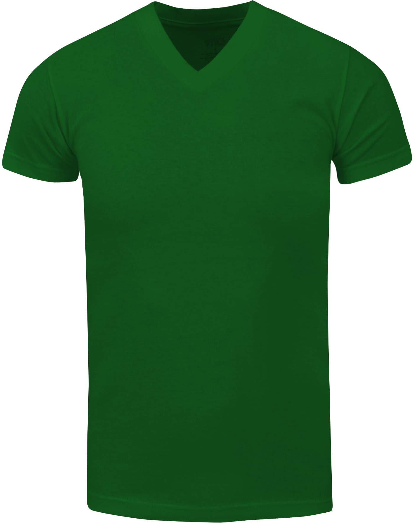 VNS06_ Active Mens Premium Cotton Heavy Weight V Neck Basic T Shirt Kelly Green
