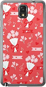 Loud Universe Samsung Galaxy Note 3 Love Valentine Printing Files A Valentine 34 Printed Transparent Edge Case - Red/White