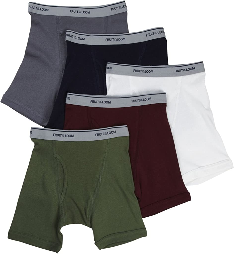 Fruit of the Loom 4-Pack Boys Assorted Boxer Briefs Underwear Fashion Waistband 4EL801B