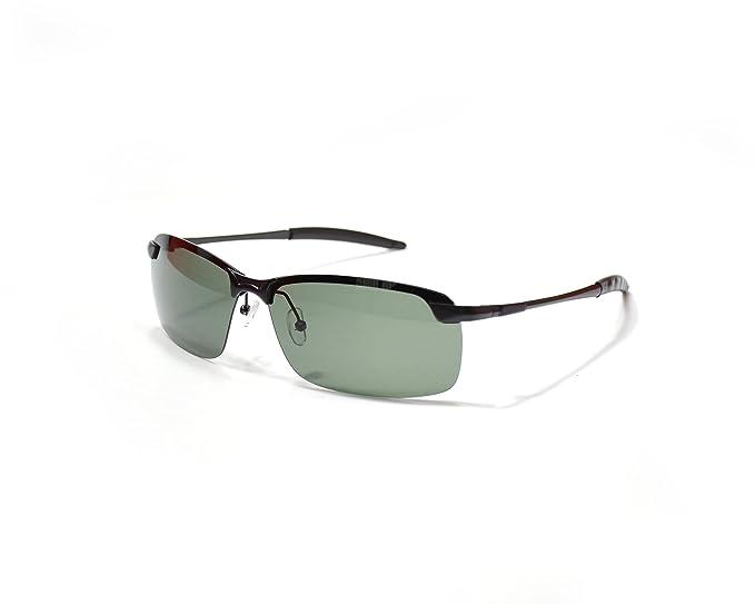 Jee Gafas de sol hombre mujer polarizadas sports driving 3043(negro,verde oscuro)