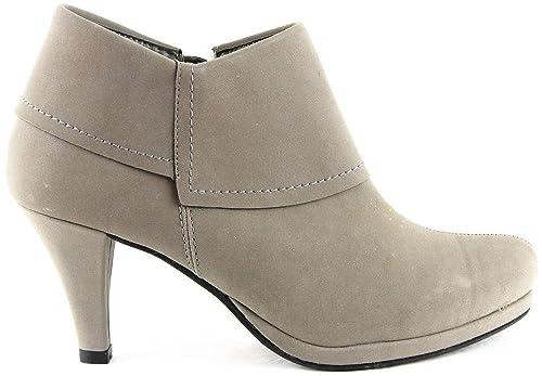 Andrea Conti Zapatos Botas Botines gris 2128, color Gris, talla 37: Amazon.es: Zapatos y complementos