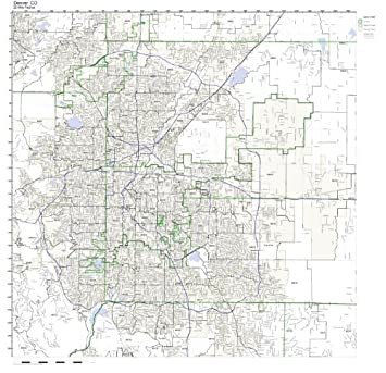 Working Maps Denver, CO Zip Code Map Laminated