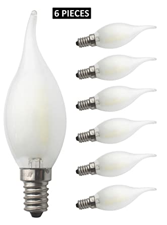 JCKing 6-Pack Regulable AC 220V E14 4W LED Filamento Vintage Bombilla, Bombillas incandescentes