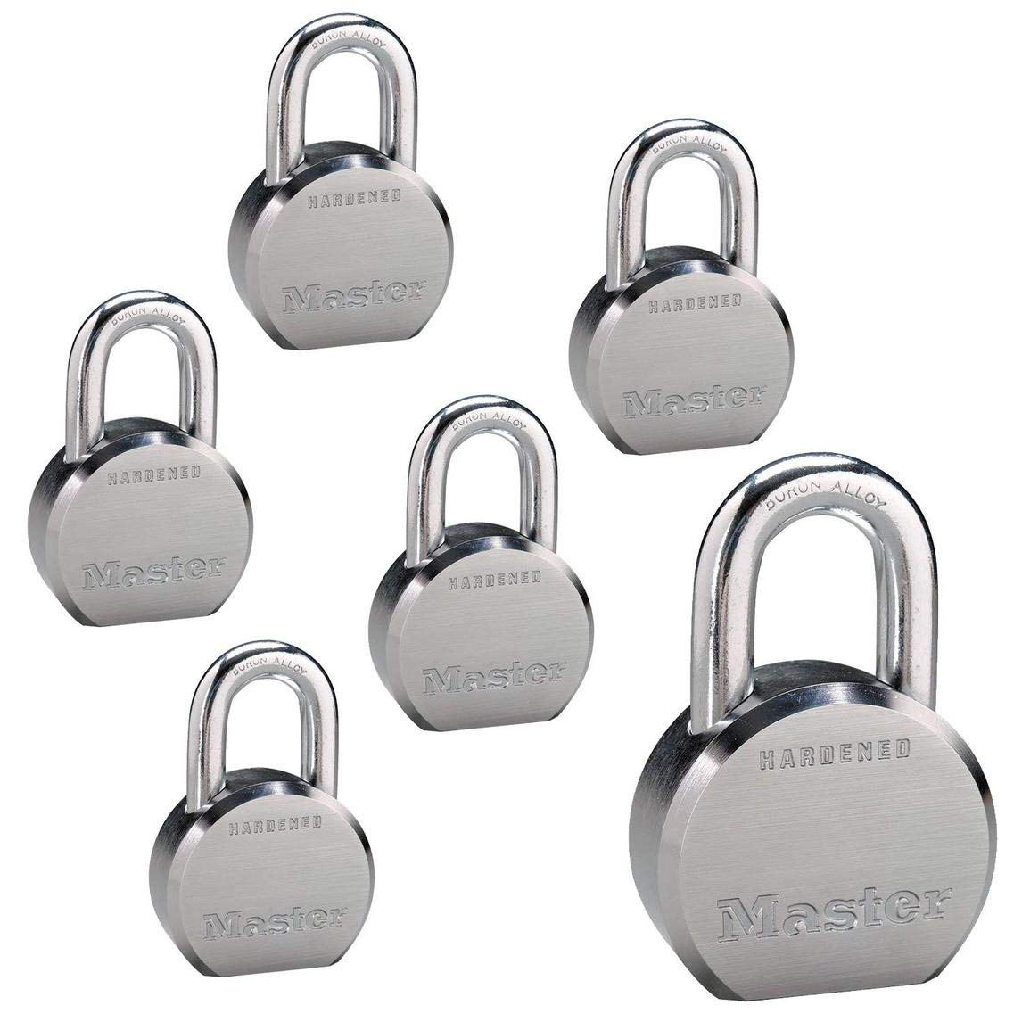 Master Lock - (6) High Security Pro Series Keyed Alike Padlocks 6230NKA-6 w/BumpStop Technology by Master Lock