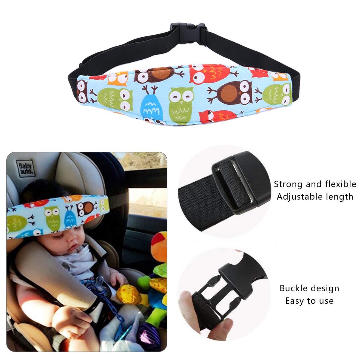 Soporte de cabeza para ni/ños,soporte de cabeza para asiento de coche,soporte de cabeza ajustable,cintur/ón para alivio del cuello,correa adecuada para cualquier asiento de beb/é,sillas de ni/ño