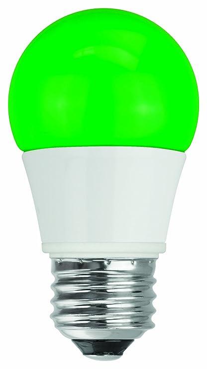 TCP Green LED A15 Light Bulbs (40 Watt Equivalent, Non-Dimmable ...
