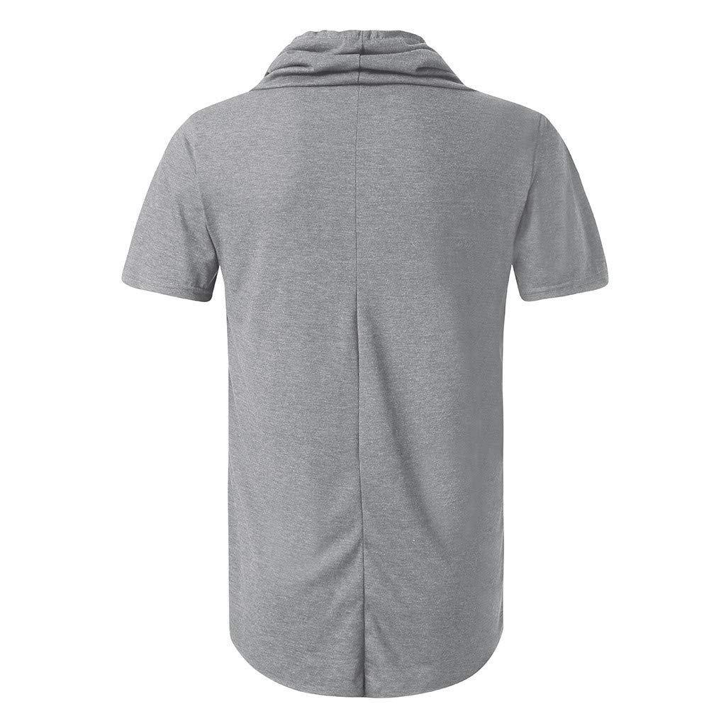 Fashion Mens Summer Slim Casual Pocket V-Neck Fit Short Sleeve Top Blouse Easytoy T Shirts for Men