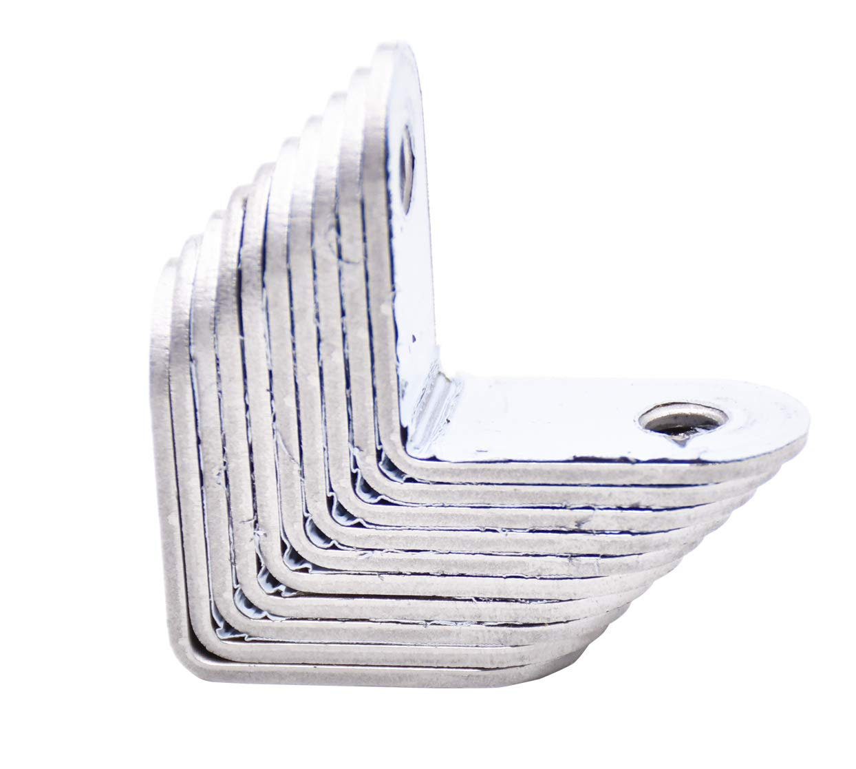 Corner Braces 10 Pcs ,L Shaped Bracket Stainless Steel Right Angle Bracket Fastener,20 Pieces Screws Included 20 x 20 mm
