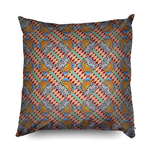 vers Pillowcases 20X20 Inch Pattern Rhombus Forming Abstract Stylish Gray Red Texture Geometric Background Wallpaper Decorative Throw,Cushion Cover for Home Sofa Bedding ()